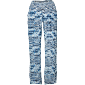 HLAČE DUGE O'NEILL LOVERS POINT PANTS  White Aop W/Blue