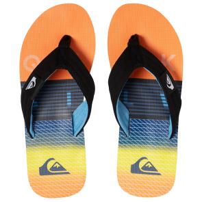 JAPANKE QUIKSILVER MOLOKAI LAYBACK-SANDALS Black/Orange/Blue