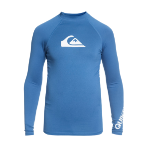 LYCRA DJEČJA SURF QUIKSILVER ALL TIME LONG  SLEEVE RASH VEST  Electric Blue