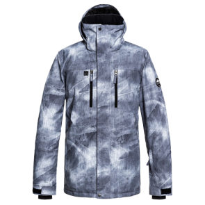 JAKNA SNOWBOARD / SKI QUIKSILVER MISSION  SNOW JACKET Grey Simple Texture