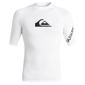 LYCRA SURF QUIKSILVER ALL TIME SHORT SLEEVE RASH GUARD  White