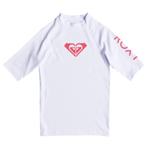 DJEČJA LYCRA ROXY WHOLE HEARTED SHORT SLEEVE RASHGUARD  White