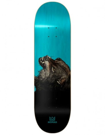 SKATEBOARD NOMAD THE WOLF LIGHT BLUE 8.13""