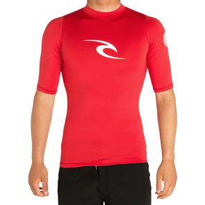 LYCRA RIP CURL CORPO UV TEE  Red