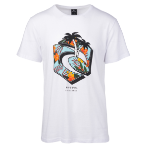 MAJICA KRATKA RIP CURL GANG PARADISE SHORT SLEEVE TEE   Optical White