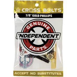 """ŠORTICE SK8 INDEPENDENT 7/8"""" PHILLIPS CROSS BOLTS  Gold"""