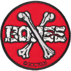PRIŠIVKA POWELL PERALTA CROSS BONES PATCH  Red