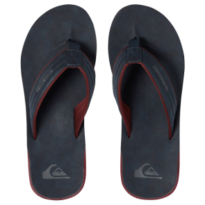 JAPANKE QUIKSILVER CARVER NUBUCK SANDALS   Blue/Red/Grey