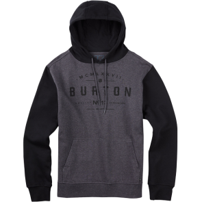 BURTON NUMERAL PULLOVER HOODIE Charcoal Heather