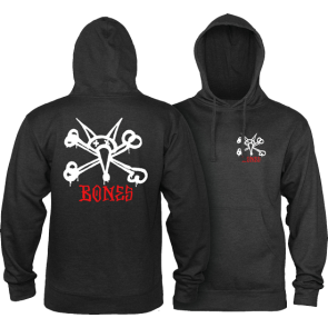 MAJICA DUGA POWELL PERALTA RAT BONES HOODED  Black