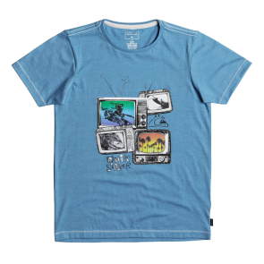 MAJICA DJEČJA KRATKA QUIKSILVER HEATHER SUPER TV T-SHIRT1  Malibu Heather