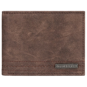 NOVČANIK QUIKSILVER STITCHY WALLET BI FOLD LEATHER   Chocolate Brown