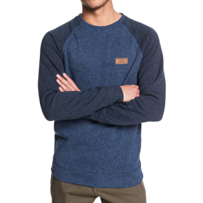 MAJICA DUGA QUIKSILVER KELLER BLOCK FLEECE LINED SWEATSHIRT  Blue Nights Heather