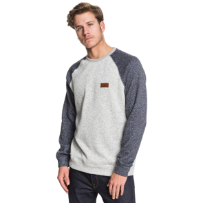 MAJICA DUGA QUIKSILVER KELLER BLOCK FLEECE LINED SWEATSHIRT   Light Grey Heather