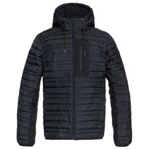JAKNA QUIKSILVER SCALY WATER RESISTANT PUFFER  Black
