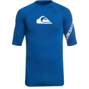 LYCRA SURF QUIKSILVER ALL TIME SHORT SLEEVE RASH GUARD   Royal Blue