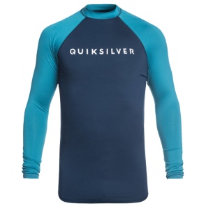 LYCRA QUIKSILVER ALWAYS THERE LS UPF 50 RASH VEST  Medieval Blue