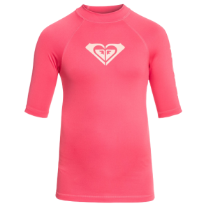 ROXY WHOLE HEARTED SHORT SLEEVE RASHGUARD  Rouge Red