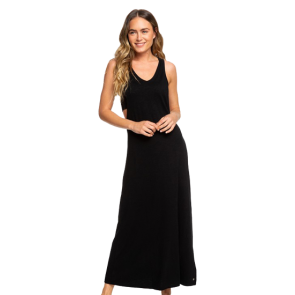 HALJINA ROXY THAT WAY MAXI TANK DRESS   True Black