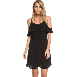 HALJINA ROXY HOT SPRING STREETS STRAPPY DRESS   True Black