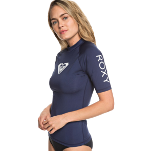 LYCRA ROXY WHOLE HEARTED SS UPF 50 RASH GUARD  Medieval Blue