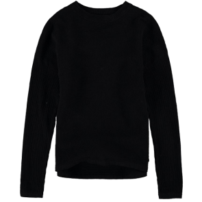 MAJICA DUGA GARCIA BLACK RIBBED SWEATER  Black