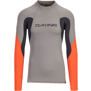 LYCRA DAKINE HEAVY DUTY SNUG FIT LS RASHGUARD   Carbon