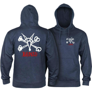 MAJICA DUGA POWELL PERALTA RAT BONES HOODED  Navy Heather