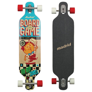 "MADRID BOARDGAME DREAM CARVING DROP THROUGH 39"" LONGBOARD"