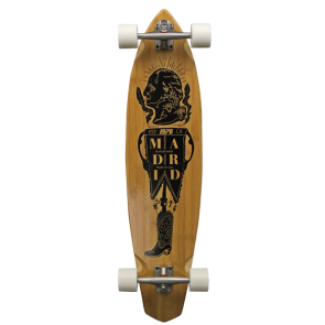 MADRID PRESIDENT DUDE BAMBOO CARVING LONGBOARD