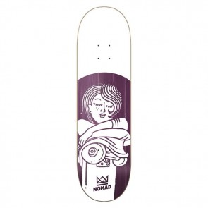 SKATEBOARD NOMAD BOOBIES PURPLE DECK 8.125""