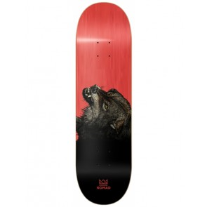 SKATEBOARD NOMAD THE WOLF RED 8.5""