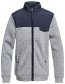 JAKNA QUIKSILVER KELLER ZIP-UP POLAR FLEECE   Blue Nights